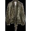Golden Hour Bandana Print Tie Front Wrap - Long sleeves shirts -