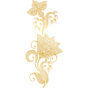 Golden flowers vector - Illustrations -