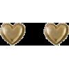 Gold heart earrings - Ohrringe -