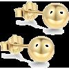 Gold plated stud earrings you - Kolczyki -