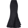 Gothic Black skirt - Skirts -