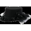 Gothic Embellished Top Hat - Hat -