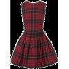 Mcqueen Tartan Dress - Obleke -