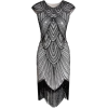 Gray Flapper Dress - Vestidos -