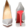 Gray and Peach Pumps - Classic shoes & Pumps -