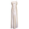 Grecian Satin Prom Formal Gown Long Holiday Party Cocktail Dress Bridesmaid Ivory - Dresses - $69.99