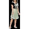 Green Silk Pleated Skirt - Spudnice -
