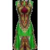 Green African Dress - Haljine -