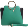 Green & Black Color Block Metal Handle S - Kurier taschen - $85.00  ~ 73.01€