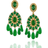 Green Dangle Earrings - Kolczyki -