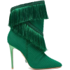 Green Fringe Ankle Boot. - Classic shoes & Pumps -
