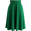 Green Full A-Line Skirt - Röcke -