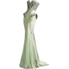 Green Geometric Dress - 连衣裙 -