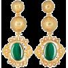 Green. Gold. Earring - Серьги -