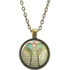 Green Luna Moth Necklace Pendant - Collares -