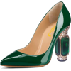 Green Patent Leather Office Heels Rhines - Classic shoes & Pumps - $89.99