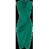 Green Satin Dress - Vestidos -