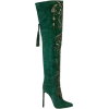 Green Suede Boot - Stiefel -