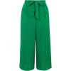 Green Tie Front Culottes - Pantalones Capri -
