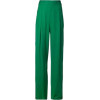 Green Wide Leg Pants - Capri & Cropped -