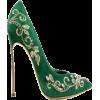 Green and Gold High Heel - Sapatos clássicos -