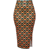 Green and Gold Pencil Skirt - Skirts -
