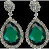 Green crystal earrings - Orecchine -