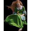 Green dress model - People -