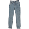 Grey Blue Mom Jeans - Jeans -