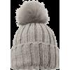 Grey Bobble Hat - Hat -