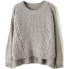 Grey Cable Knit jumper by sheIn - Puloveri -