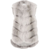 Grey Faux Fur Velvet Feel Vest - Jacket - coats -