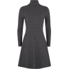 Grey Ribbed Dress - Haljine -