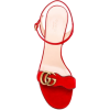 Gucci Red Logo Sandals - 凉鞋 -