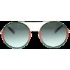 Gucci Round Striped Acetatte Sunglasses - Sunčane naočale -