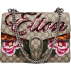 Gucci Beige GG Supreme Canvas Embroidere - ハンドバッグ -