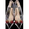 Gucci Black Eleanor Strawberry Plexi Hee - Classic shoes & Pumps -