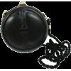 Gucci Black Leather Gg Bamboo Kisslock R - Hand bag -