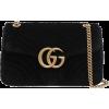 Gucci Black Velvet Bag - Carteras -
