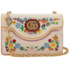 Gucci Floral-embroidered linen cross-bod - Carteras -