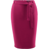 Gucci Fuchsia Belted Skirt - Saias -