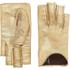 Gucci Metallic leather gloves in gold - Gloves -