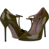 Gucci Patent Leather Italy Olive Green - Classic shoes & Pumps -