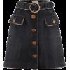 Gucci Skirt denim black gold buttons - Юбки - $2,501.38  ~ 2,148.40€