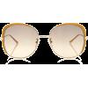 Gucci Sunglasses Guillochet Squared Sung - Sončna očala -