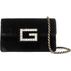 Gucci Velvet Black Shoulder Bag - Hand bag -