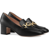 Gucci Zumi leather mid-heel loafer - Mocasines -