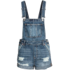 H&M Denim Dungaree Shorts - Overall -