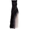 HALSTON satin & organza black dress - Vestiti -
