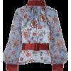 HARMUR Belted floral-print silk - Long sleeves shirts - £212.50